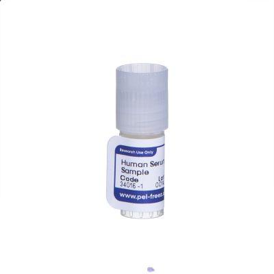 Cryovial containing human serum sample